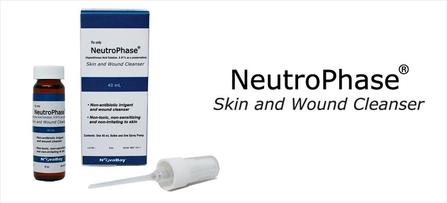 photo of NeutroPhase Skin and Wound Cleanser product and name